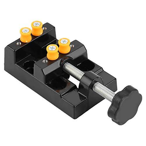Mini-Schraubstock, Universal-Tischklemme, Tisch-Saug-Schraubstock, Clip-On, Reparaturwerkzeug für Schmuck, Walnuss, Uhr, Handwerk
