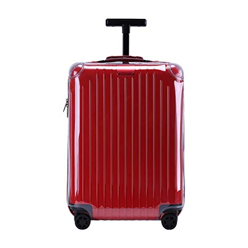 """RainVillage Luggage Covers Luggage Protector Clear PVC Suitcase Protective Case with Zipper Closure for Rimowa Essential Lite Check-in L (82373,30"""")"""