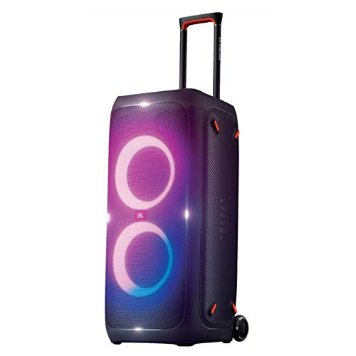 JBL PartyBox 310 by Harman Portable Bluetooth Party Speaker with Dynamic Light Show, DJ Control Panel, Built-in Karaoke Mode & IPX4 Splashproof Protection (240 Watt, Upto 18 Hrs Playtime, Black)