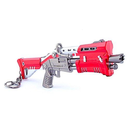 Games metal 1/6metallo rosso shotgun Gun Model figure Arts Toys Collection Keychain Gift.
