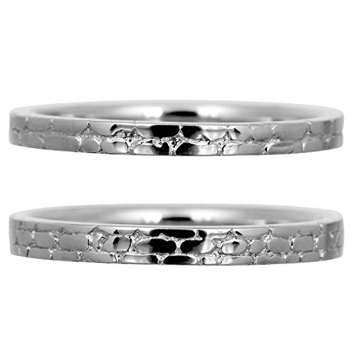 [ココカル]cococaru ペアリング 2本セット シルバー マリッジリング 結婚指輪 日本製 (レディースサイズ12号 メンズサイズ5号)