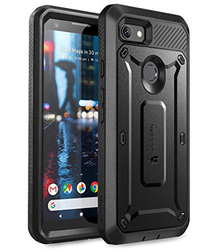 SUPCASE Unicorn Beetle Pro Series Designed for Google Pixel 3a Case, Full-Body Rugged Case with Built-in Screen Protector for Google Pixel 3a 2019 Release (Black)