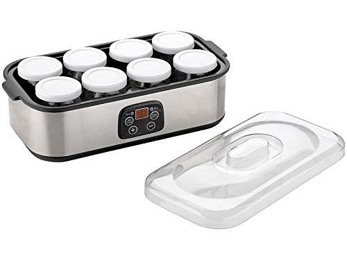 Rosenstein & Söhne Joghurt Maschine: Joghurt-Maker, Timer & Temperatur-Einstellung, 8 Gläser à 180 ml, 30 W (Joghurt-Bereiter)