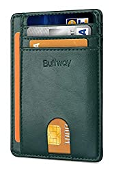 Buffway Slim Leather Wallet - 11 of the best travel accessories for men  #travelclans #travelaccessories #men