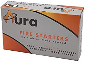 Aura Outdoor Products AOP-FS24 All Natural Charcoal Fire Starters 24-Count for Big Green Egg, Kamado Joe, Weber Kettle