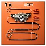 Pingping ZZPING Adecuado Audi A4 B6 B7 2002-2008 Kit de reparación regulador de Ventana Delante Izquierdo o Derecho OE # 8E0837461 / 8E0837462 (Color Name : Brown)