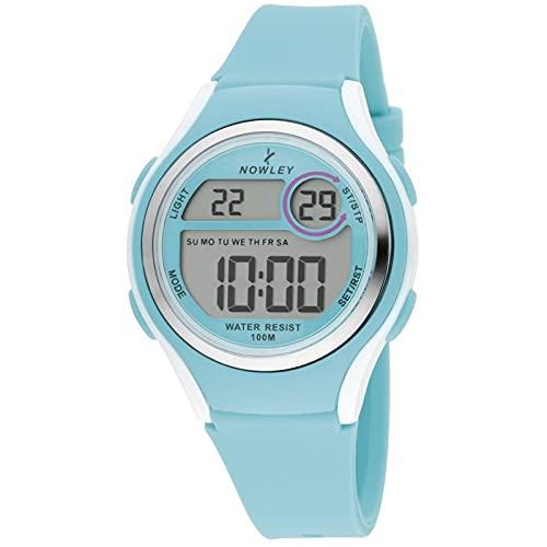 Nowley Racing 8-6273-0-2 Reloj Infantil Digital con Caja de policarbonato y Pulsera de Silicona Azul.