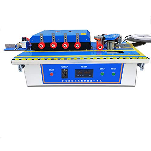 professional YUCHENGTECH Woodworking Edge Banding Machine Portable Compressor Trimming Edge Banding Machine Microcomputer Control Double Sided Bonding Trimming and Polishing (110V)