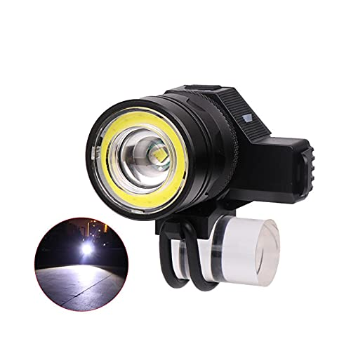 YNLRY 650LM USB Headlamp 5 Modes Mechanical Bicycle Headlight Flashlight for Camping Cycling