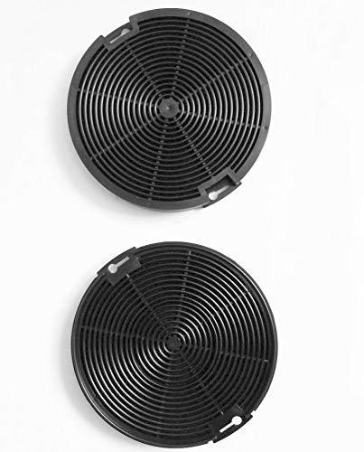 Keenberk Aktiv-Kohlefilter-Set (2 Stk.) 15cm rund - Ersatz-Filter für diverse Whirlpool-Dunstabzugshauben