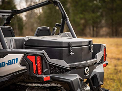 SuperATV Heavy Duty Insulated Rear Cooler/Cargo Box for Can-Am Maverick Sport 1000 (2019+) - Sealed Lid Keeps Ice In & Mud Out!