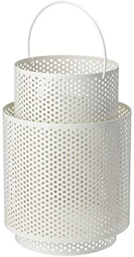 IKEA Beharska 704.259.53 - Farol para vela (25,4 cm), color blanco