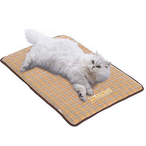 IEUUMLER Sommer Haustier Kühlmatte Pad Cooling Mat Breathable Kühlmatte Schlafmatte für Hunde Katzen IE106 (M, Yellow)