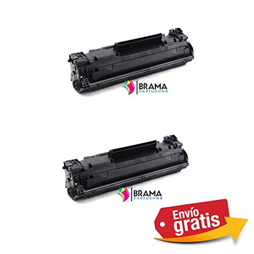 Bramacartuchos - 2 X Cartuchos compatibles Non oem para Hp 83A CF283A de,HP Laserjet Pro MFP M125rnw, MFP M125nw, MFP M127fw, MFP M127fp, MFP M127fn, M125, M127,