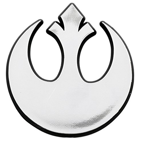 SW Rebel Alliance Logo Plastic Auto Emblem - [Silver][3'' x 3'']