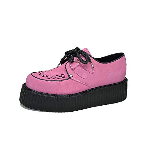 STEELGROUND Zapatos Creepers Buggies Unisex de Ante Rosa (40 EU)
