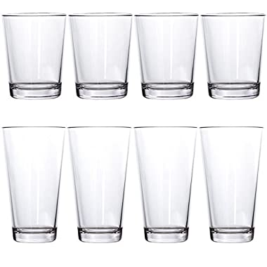 8-Piece Bistro Break-resistant Restaurant Quality SAN Plastic Tumblers | four 15-ounce and four 20-ounce
