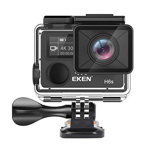 LOISK Sport-Kamera 4K Ultra HD Ambarella A12 Chip 14MP 30M Unterwasser Wasserdicht Fern Sport Camcorder Mit Zubehör-Kit,Für Tauchen, Skifahren Gebraucht