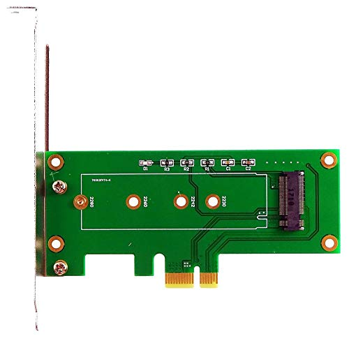 M-ware Electronics M.2 (NGFF) M-Key SSD an PCIe x1 Adapter, für Samsung 950 Pro/960/970 EVO, SM951. ID19346