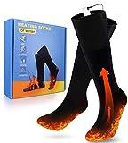 PECHTY Beheizte Socken, Fußwärmer Elektrisch, Wiederaufladbare Warme Socken, 3 Heizungseinstellungen Thermosocke für Outdoor-Sportarten, Angeln, Jagen