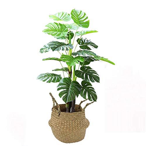 Yipianyun Palme Palmenbaum Königspalme, Cocospalme Kunstpflanze Kunstbaum Künstliche Pflanze Echtholz Hochzeit/Party Empfangstisch Blumen,Primarycolors,120cm
