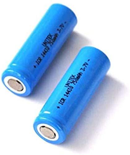Compatible para 2 Habitaciones 3.7 V Batería Recargable Litio Ion 14430 4 / 5AA Li-Ion Bateriage Cell Pilas 750 MAH para Linterna Digital LED Digital