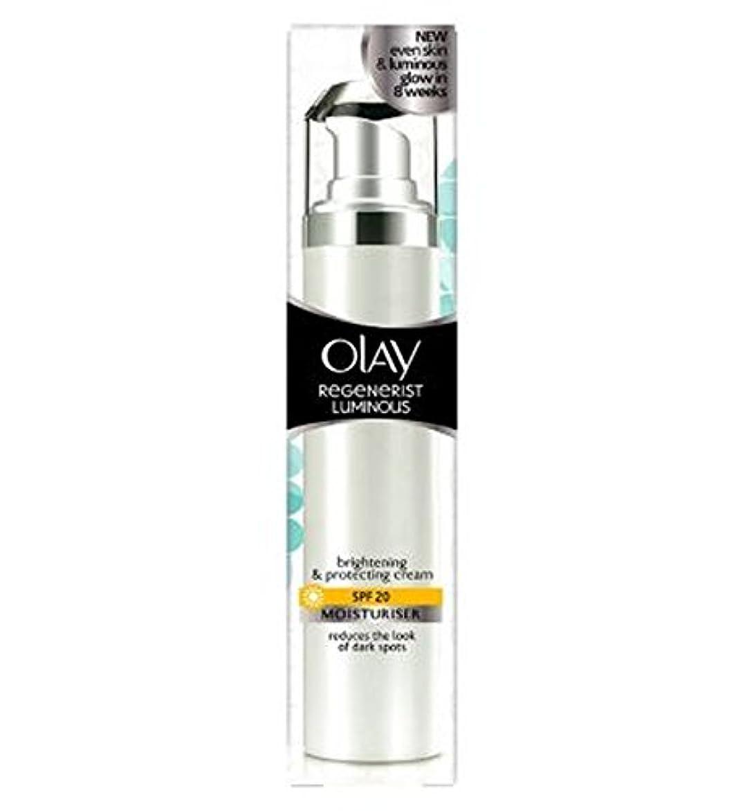 請負業者自分のデンマークオーレイリジェネ発光光沢保湿クリームSpf20の50ミリリットルの50ミリリットル (Olay) (x2) - Olay Regenerist Luminous Brightening Moisturiser Cream SPF20 50ml 50ml (Pack of 2) [並行輸入品]