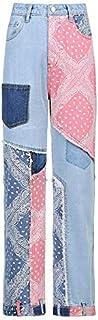 Jeans a vita alta allentata da donna Jeans casual Boyfriend Denim Denim Classic Leg Pants