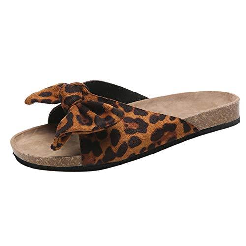 Badelatschen Damen Badeschlappen Sandalen Sommer Hausschuhe Rutschfest Badeschuhe Offene Flache Schuhe verbeugen Rom Freizeit Sommerschuhe Schlappen Home Slippers Gartenschuhe Pantoffeln