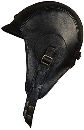 Real Leather Aviator Purchase Hat with Goggles 2021 autumn and winter new Black Helmet Pil