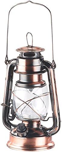 Lunartec Petroleumlampe LED: Dimmbare LED-Sturmlampe mit Akku, Bronze, 30 Lumen, 1,2 Watt (Petroleumlampe LED dimmbar)