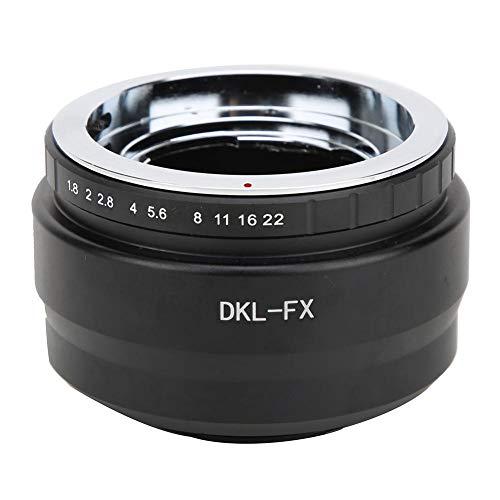 Anillo adaptador de lente manual, anillo adaptador de convertidor de aleación de aluminio DKL-FX para Voigtlander/para lente Schneider DKL para cámara Fuji FX, enfoque manual/apertura/exposición