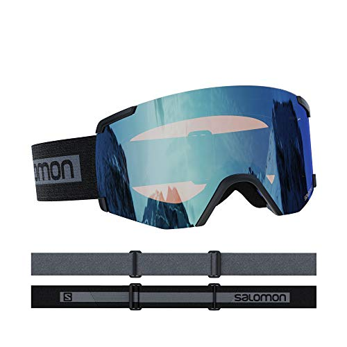 Salomon, S/VIEW, Unisex-Skibrille, Medium-Small Fit, Blau (Bold Blue)/Universal Mid Blue, L41152800