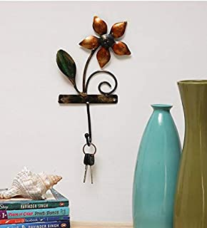 Metal Wall Hanging one Flower Key Holder by accurate art (11x2x7in)