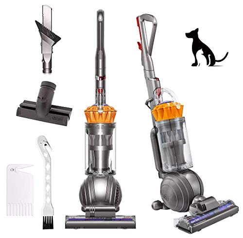 Dyson Ball Multi Floor Upright Vacuum Cleaner, HEPA Filter, Powerful Suction, Self Adiusting Cleaner Head, Handheld Suction Tips, Bagless, Width Cleaning Path, Iron/Yellow, W/GM Cleaning Brush