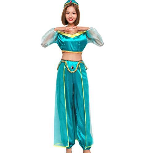 Mitef Disfraz De Princesa Arabe Egipcia Fiesta Halloween Cosplay Carnaval,M