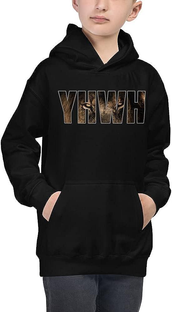 Kids YHWH Yahweh God Lion Christian Bible Verse Evangelical Hoodie Clothing
