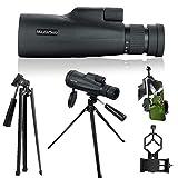 MaxUSee Tragbares 10–30 x 50 Zoom HD Monokular-Teleskop mit Stativ-Tragetasche und Handy-Adapter, BAK4 Prisma FMC Objektiv für Reisen, Wandern, Vogelbeobachtung, Wildtierbeobachtung, Sportkonzerte