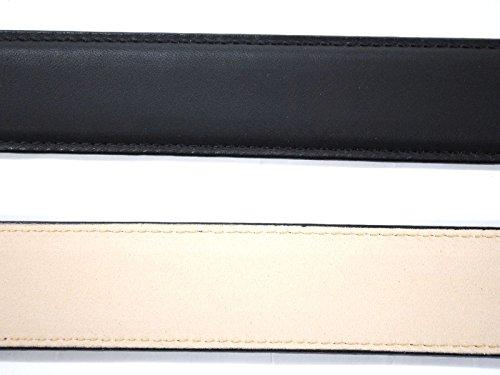 『牛革 ビジネスベルト 長さ調節可能レザーベルト 30[日本製] - 黒 Mサイズ』のトップ画像