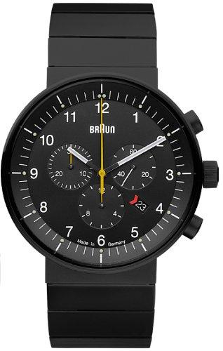 Braun Unisex-Armbanduhr BN0095BKBKBTG Analog Quarz Edelstahl 66549