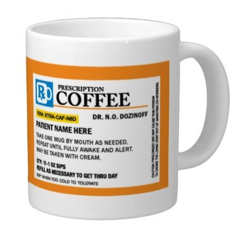 Personalized Prescription Coffee Mug, Add A Custom Name - Great for Doctors, Nurses, Pharmacist, great Mothers Day, Fathers Day, Christmas or Birthday Gift (15oz)