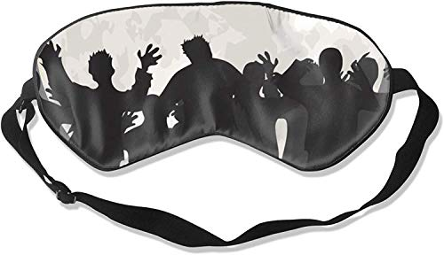 Video Camera Print Comfortable Soft Best Sleeping Eyeshade * with Adjustable Strap for Travel Work Naps Blocks Light-Halloween Zombies-One Size100% Silk Sleep Mask Eye Mask