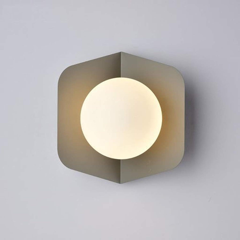 Wandleuchte Wandlampe Moderne minimalistische Wandleuchte, Wohnzimmer Schlafzimmer Studie Flur Persnlichkeit macaron candy Farbe Wandleuchte (Farbe   A)