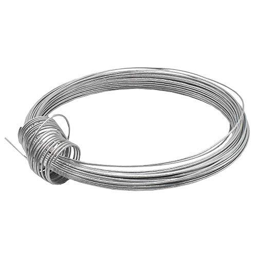 Christoph Palme Leuchten Eisendraht 1,80 mm verzinkt 10m gebunden, auch Basteldraht Flechtdraht Spanndraht Bindedraht Stahldraht Deko-Draht genannt