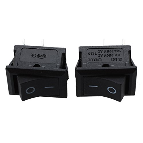 Kaxofang 2 Pcs Auto Coche AC 6A/250V 10A/125V 2 Pin 2 Posicion ON/Off Balancin Interruptor KCD1