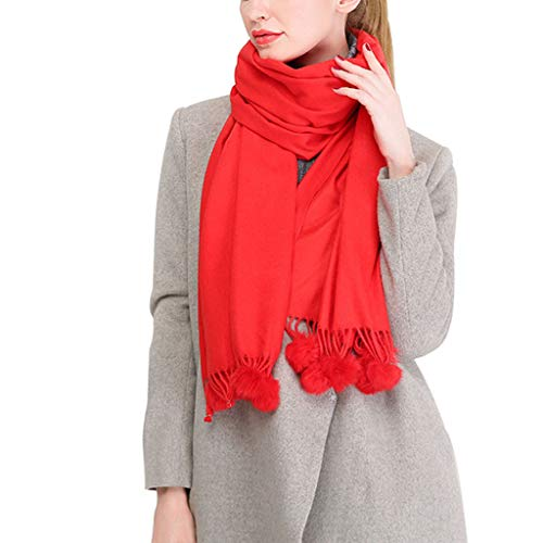 PET CLOTHES Scarf Women Soft Scarves Stylish Warm Blanket Solid Shawl Elegant Wrap Shawls Best Gift Tassels Solid for Autumn Winter,A,190x70cm