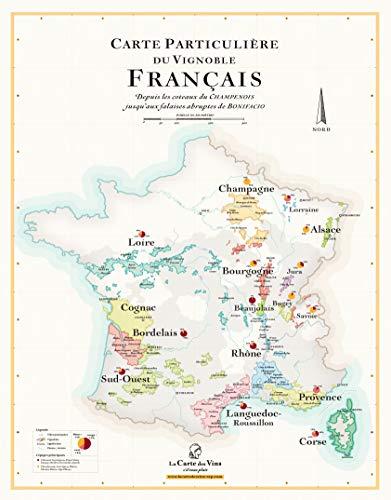 Mapa de los vinos de Francia (50 x 70 cm)