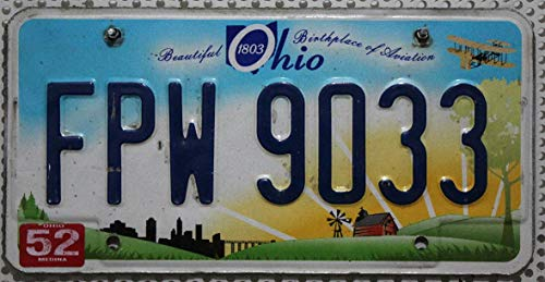 USA Nummernschild OHIO : Kennzeichen US License Plate : KFZ Metallschild - Autokennzeichen