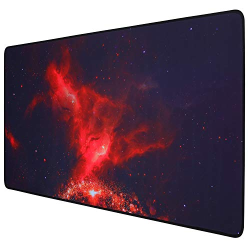 GDBT Extended Gaming Mouse pad with Stitched Edges,Large Mouse mat,Non-Slip Rubber Base,Waterproof Keyboard Pad,Desk Pad for Premium-Textured,Thick Home Office Desk mat for Gamer,800x400,Starry Sky