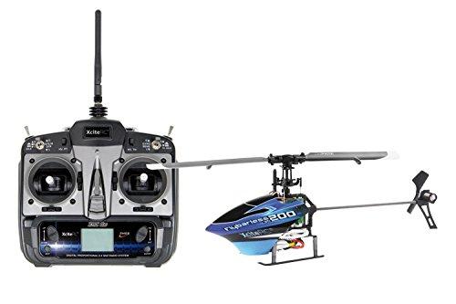Xcite RC Flybarless RTF 2003D telecomandato RC–2.4GHz canali elicottero con 6S Pro canali trasmettitore
